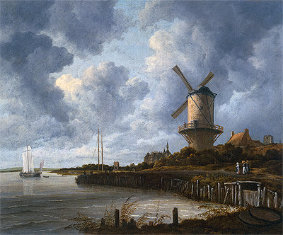 Ruisdael | The Mill at Wijk-bij-Duurstede, c.1670 | Giclée Canvas Print