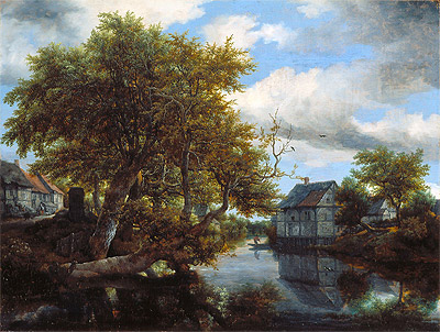 The Great Pool, 1652 | Ruisdael | Painting Reproduction
