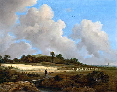 View of Grainfields with a Distant Town, c.1670 | Ruisdael | Giclée Canvas Print