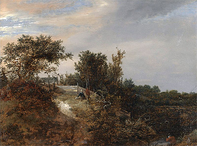 A Landscape with a Stream, 1647 | Ruisdael | Giclée Canvas Print