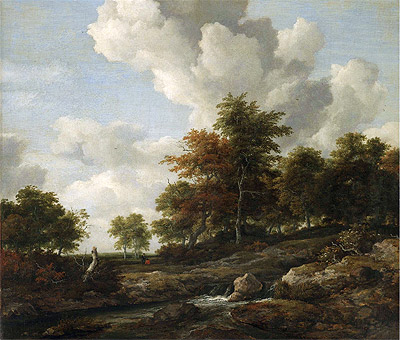 Wooded Landscape with a Rocky Stream, undated | Ruisdael | Giclée Canvas Print