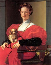 Pontormo | Portrait of a Lady in Red Dress, c.1532/33 | Giclée Canvas Print