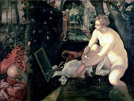 Tintoretto   Susanna and the Elders, c.1555/56 by   Giclée Canvas Print
