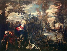 Tintoretto | The Flight into Egypt | Giclée Canvas Print