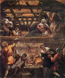 Tintoretto   The Adoration of the Shepherds   Giclée Canvas Print