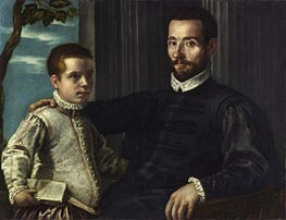 Tintoretto | Portrait of a Nobleman with his Son | Giclée Canvas Print