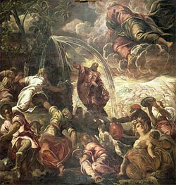 Tintoretto   Moses Striking Water from the Rock   Giclée Canvas Print