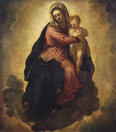 Tintoretto | The Virgin and Child | Giclée Canvas Print
