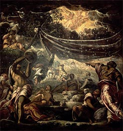 Tintoretto | The Fall of Manna, 1577 | Giclée Canvas Print