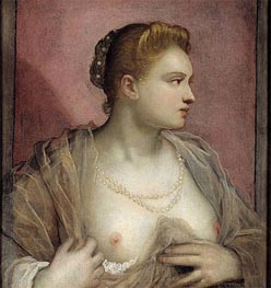 Tintoretto | Lady Baring her Breast | Giclée Canvas Print