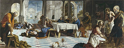 Christ Washing the Feet of His Disciples, c.1548/49 | Tintoretto | Painting Reproduction