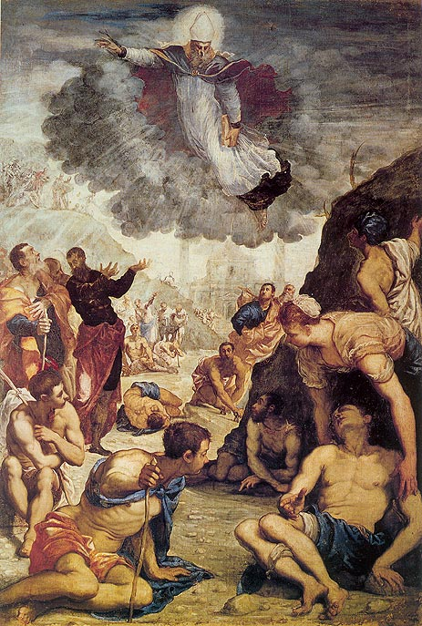The Miracle of St. Augustine, c.1549 | Tintoretto | Painting Reproduction