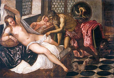 Mars and Venus Surprised by Vulcan, c.1555 | Tintoretto | Painting Reproduction