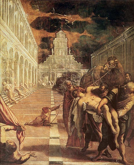 The Removal of the Body of St. Mark, c.1562/66   Tintoretto   Painting Reproduction