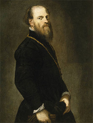 Gentleman with a Gold Chain, c.1555 | Tintoretto | Giclée Canvas Print