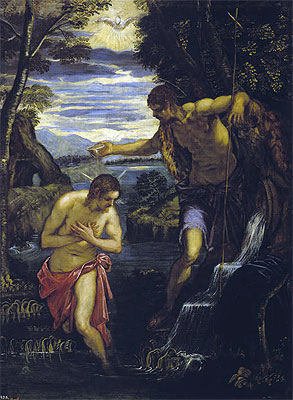 The Baptism of Christ, c.1585 | Tintoretto | Giclée Canvas Print