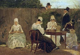 Jacques-Laurent Agasse | The Chalon Family in London, c.1800 | Giclée Canvas Print