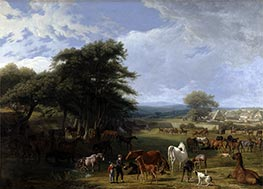 Jacques-Laurent Agasse | Lord Rivers's Stud Farm, Stratfield Saye, 1807 | Giclée Canvas Print