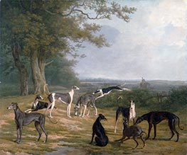 Jacques-Laurent Agasse | Nine Greyhounds in a Landscape, c.1807 | Giclée Canvas Print