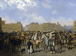 Jacques-Laurent Agasse | Old Smithfield Market, London, 1824 | Giclée Canvas Print