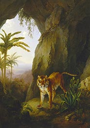 Jacques-Laurent Agasse | Tiger in a Cave, c.1814 | Giclée Canvas Print