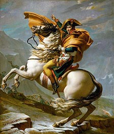 Jacques-Louis David | Napoleon Crossing the Alps at the St Bernard Pass, 20th May 1800 | Giclée Canvas Print
