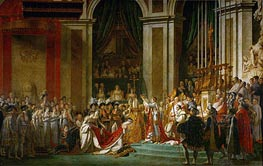 Jacques-Louis David | The Consecration of the Emperor Napoleon and the Coronation of the Empress Josephine by Pope Pius VII, 2nd December 1804 | Giclée Canvas Print