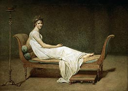 Jacques-Louis David | Mme Recamier nee Julie Bernard | Giclée Canvas Print