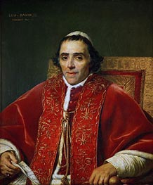Jacques-Louis David | Pope Pius VII | Giclée Canvas Print