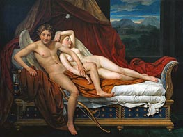 Jacques-Louis David | Cupid and Psyche, 1817 | Giclée Canvas Print