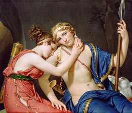 Jacques-Louis David | The Farewell of Telemachus and Eucharis, 1818 | Giclée Canvas Print