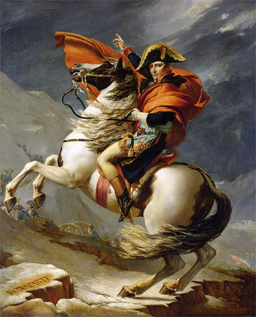 Napoleon Crossing the Alps on 20th May 1800, 1803 | Jacques-Louis David | Painting Reproduction
