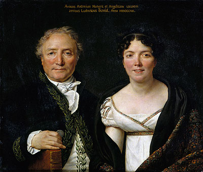 Mr. and Mrs. Antoine Mongez, 1812 | Jacques-Louis David | Giclée Canvas Print
