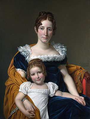 Portrait of the Comtesse Vilain XIIII and Her Daughter, 1816 | Jacques-Louis David | Giclée Canvas Print