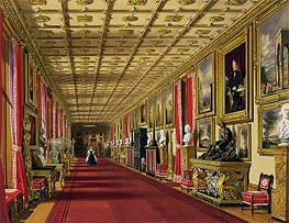 James Baker Pyne | South Corridor, Windsor Castle | Giclée Paper Print