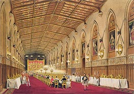 James Baker Pyne | St George's Hall, Windsor Castle | Giclée Paper Print