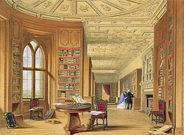 James Baker Pyne | The Library, Windsor Castle | Giclée Paper Print