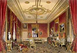 James Baker Pyne | The Queen's Private Sitting Room, Windsor Castle | Giclée Paper Print