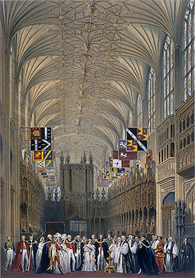 Interior of St George's Chapel, 1838 | James Baker Pyne | Giclée Paper Print