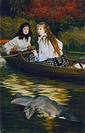 Joseph Tissot | On the Thames - A Heron | Giclée Canvas Print