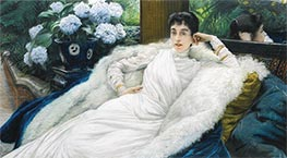 Joseph Tissot | Portrait of Clotilde Briatte, Comtesse Pillet-Will | Giclée Canvas Print