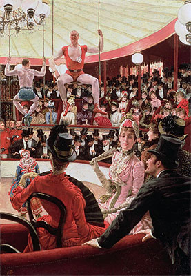 Women of Paris - The Circus Lover (The Sporting Women), 1885 | Joseph Tissot | Giclée Canvas Print