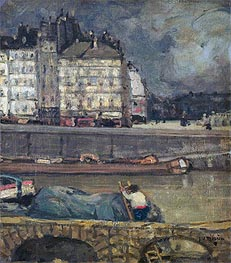 James Wilson Morrice | The Left Arm of the Seine in Front of the Place Dauphine, undated | Giclée Canvas Print