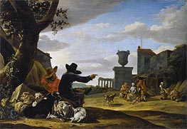 Jan Baptist Weenix | Ruined Landscape with a Tavern | Giclée Canvas Print