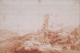 Jan Baptist Weenix | Landscape with Stream and Ruins, c.1647 | Giclée Paper Print