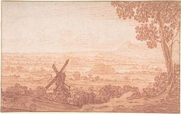 Jan Baptist Weenix | An Extensive Panoramic Landscape with a Windmill, Undated | Giclée Paper Print