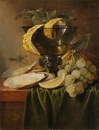 de Heem | Still Life with a Glass and Oysters | Giclée Canvas Print