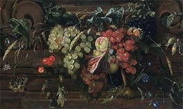 de Heem | Still Life with White and Blue Grapes, 1653 | Giclée Canvas Print