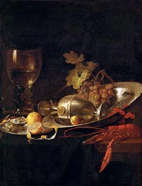 de Heem | Breakfast Still Life, c.1635 | Giclée Canvas Print