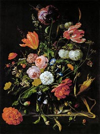 de Heem | Still Life with Flowers, c.1650/60 | Giclée Canvas Print